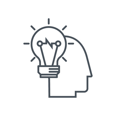 iq: Smart idea icon suitable for info graphics, websites and print media and  interfaces. Line vector icon.