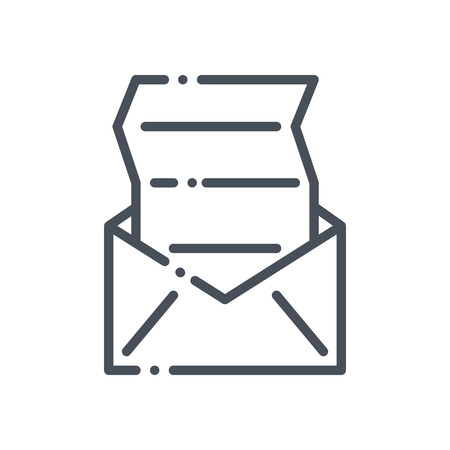 unread: Mailing icon suitable for info graphics, websites and print media and  interfaces. Hand drawn style, pixel perfect line vector icon.