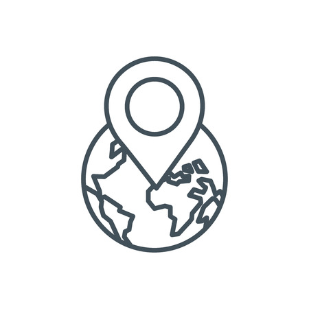 Geo location icon suitable for info graphics, websites and print media and  interfaces. Line vector icon.