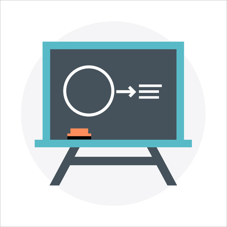 lean: Lean, blackboard theme, flat style, colorful, vector icon for info graphics, websites, mobile and print media. Illustration