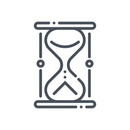 Sand timer icon suitable for info graphics, websites and print media and  interfaces. Hand drawn style, line, vector icon. Иллюстрация