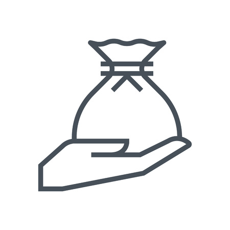 tax attorney: Inheritance law icon suitable for info graphics, websites and print media and  interfaces. Line vector icon. Human face, head, line vector icon.