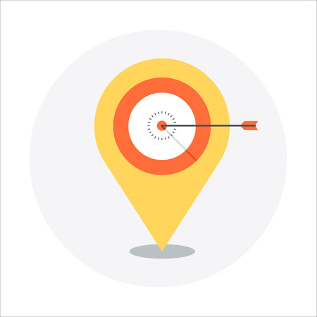 targeting: Geo targeting theme, flat style, colorful, vector icon for info graphics, websites, mobile and print media.