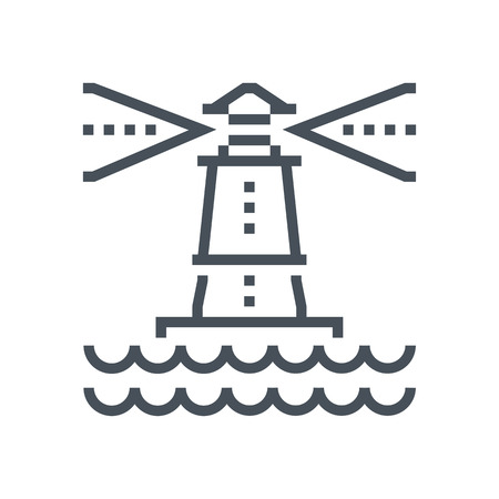 Light house icon suitable for info graphics, websites and print media and  interfaces. Line vector icon.