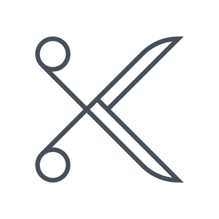 guides: Scissors icon suitable for info graphics, websites and print media and  interfaces. Line vector icon.