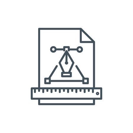 Graphics design icon suitable for info graphics, websites and print media and  interfaces. Line vector icon. Illustration