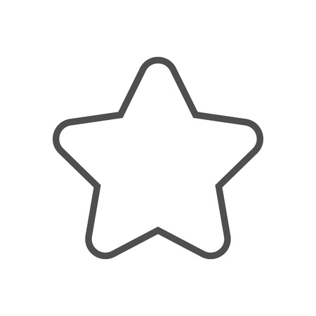 Star, rating icon suitable for info graphics, websites and print media and  interfaces. Line vector icon.