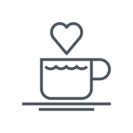 hot couple: Valentines day coffee icon suitable for info graphics, websites and print media. Vector, flat icon, clip art.