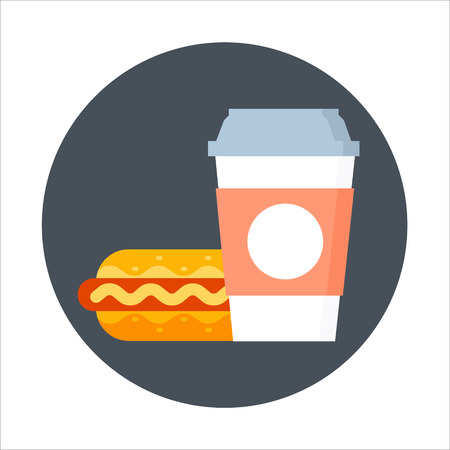 Fast food theme, flat style, colorful, vector icon for info graphics, websites, mobile and print media.