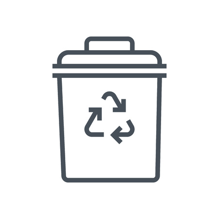 Trash bin icon suitable for info graphics, websites and print media and  interfaces. Line vector icon.