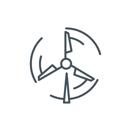 Wind mill, energy icon suitable for info graphics, websites and print media and  interfaces. Line vector icon.