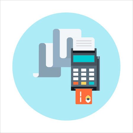 billing: Billing, invoice, credit card payment theme, flat style, colorful, vector icon for info graphics, websites, mobile and print media. Illustration