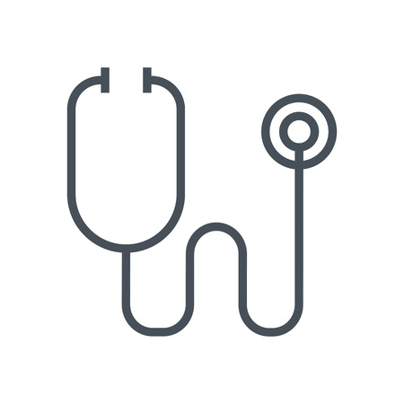 medical heart: Stethoscope icon suitable for info graphics, websites and print media and  interfaces. Line vector icon.
