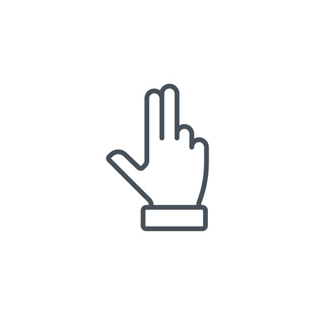 trackpad: Multi touch, hand, finger, gesture icon suitable for info graphics, websites and print media and  interfaces. Line vector icon.
