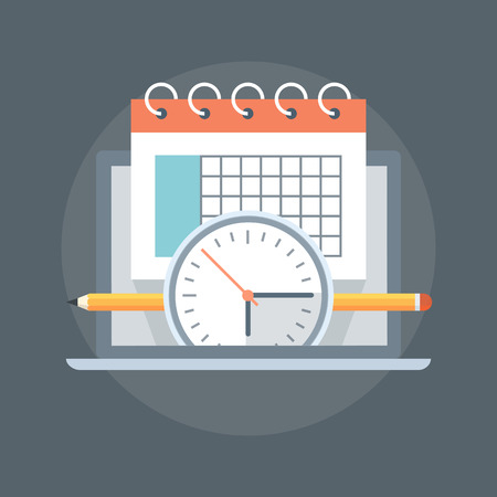 Events Calender flat Style, colorful, vector icon for info graphics, websites, mobile and printed media. Ilustração