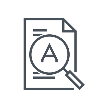 details: Magnifier, search, details icon suitable for info graphics, websites and print media and  interfaces. Line vector icon.
