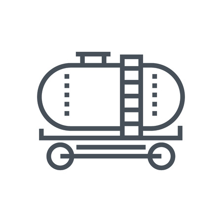 Gas tank icon suitable for info graphics, websites and print media and  interfaces. Line vector icon. Ilustração