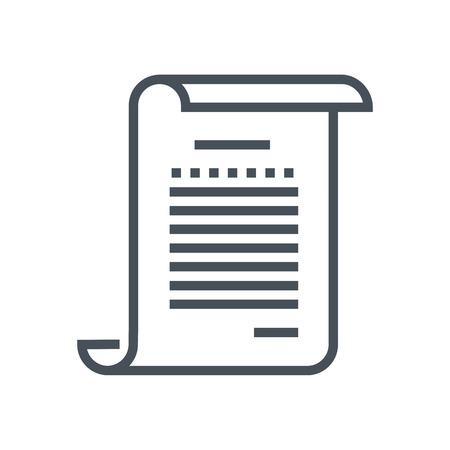 Game scenario icon geschikt voor info graphics, websites en gedrukte media en interfaces. Line vector icon. Stock Illustratie