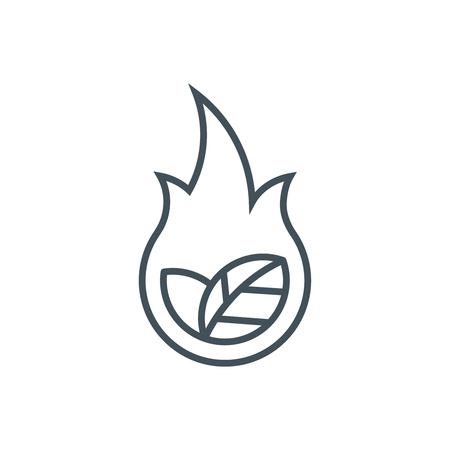 Natural Resource Damage icon suitable for info graphics, websites and print media and  interfaces. Line vector icon. Illustration