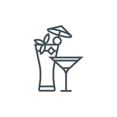 Cocktails icon suitable for info graphics, websites and print media. Vector icon.