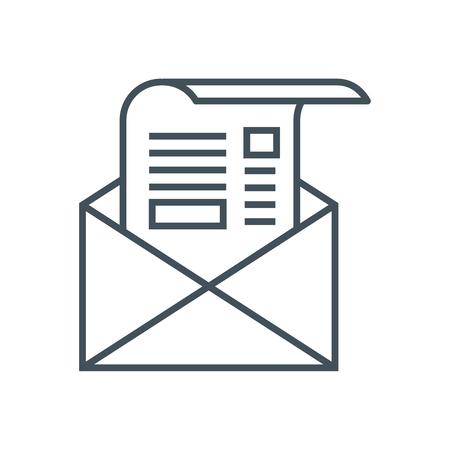 ニュースレター アイコン情報グラフィックス、web サイトや印刷媒体とインタ フェースに最適。行ベクトルのアイコン。