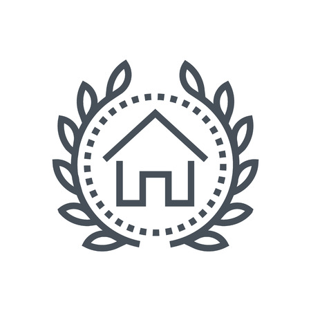 prison house: Real estate icon suitable for info graphics, websites and print media and  interfaces. Line vector icon. Human face, head, line vector icon.
