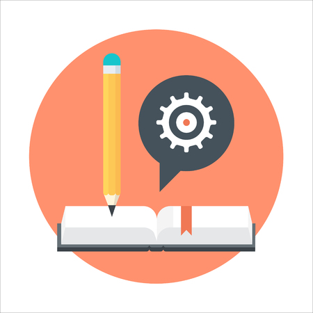 Study theme, flat style, colorful, vector icon set for info graphics, websites, mobile and print media. Illustration