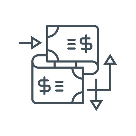 Wire transfer icon suitable for info graphics, websites and print media. Vector icon.