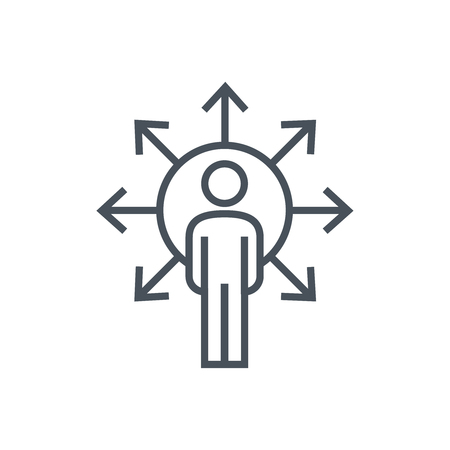 Indicazioni icona adatta per informazioni grafiche, siti web e supporti di stampa. Colorful vettore, icona piatta, clip art.