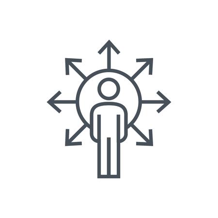 Wegbeschreibung Symbol für Info-Grafiken, Webseiten und Printmedien. Bunte Vektor, flache Symbol, Clip-Art.