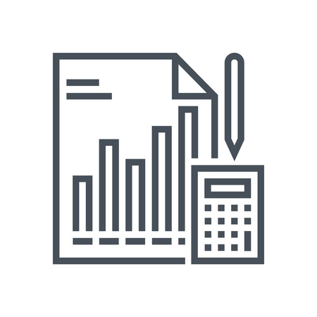 report icon: Statistics, analytics, report icon suitable for info graphics, websites and print media and  interfaces. Line vector icon.