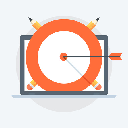 Target Success Flat style, colorful, vector icon for info graphics, websites, mobile and print media.