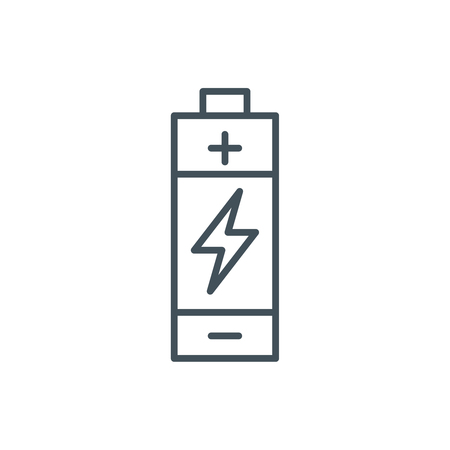Battery icon suitable for info graphics, websites and print media and  interfaces. Line vector icon.