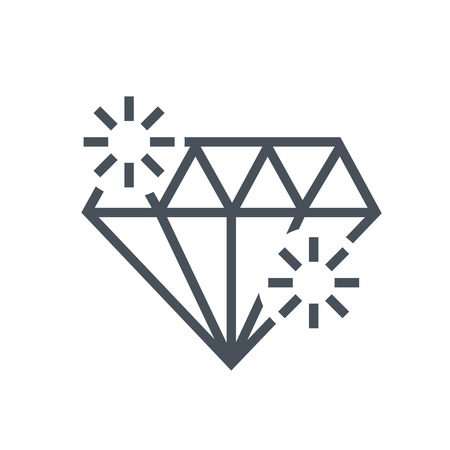 royal person: Diamond, premium quality icon suitable for info graphics, websites and print media and  interfaces. Line vector icon. Illustration