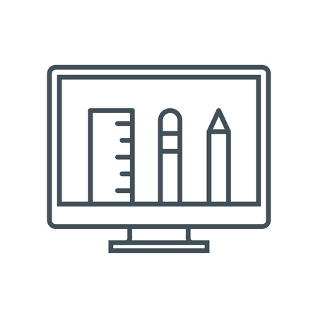 responsive: Professional training icon suitable for info graphics, websites and print media and  interfaces. Line vector icon.