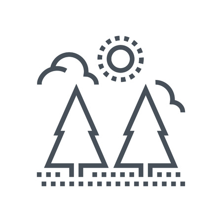 Forest icon suitable for info graphics, websites and print media and  interfaces. Line vector icon.