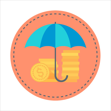 responsive: Insurance Flat style colorful, vector icon for info graphics, websites, mobile and print media. Illustration
