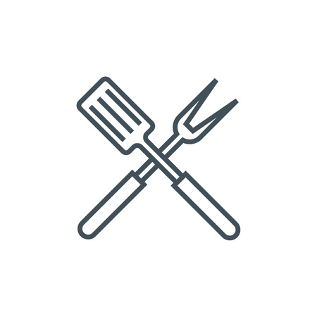 responsive: Barbecue icon suitable for info graphics, websites and print media. Vector, line icon.