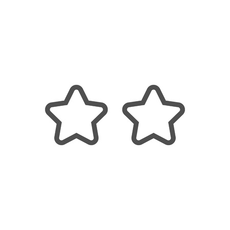 star rating: Star, rating icon suitable for info graphics, websites and print media and  interfaces. Line vector icon.