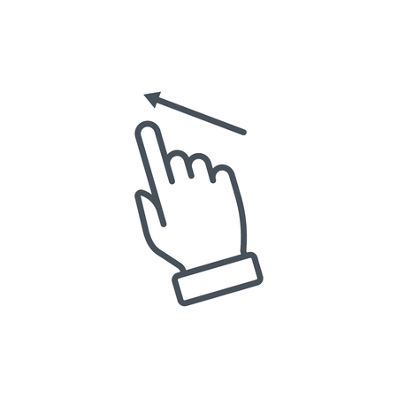 nudge: Multi touch, hand, finger, gesture icon suitable for info graphics, websites and print media and  interfaces. Line vector icon.
