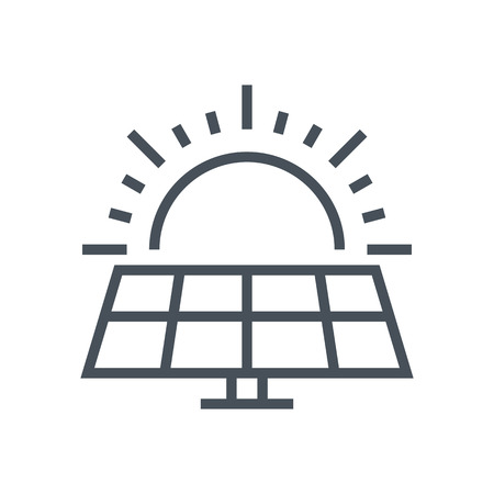 power icon: Solar power icon suitable for info graphics, websites and print media and  interfaces. Line vector icon.