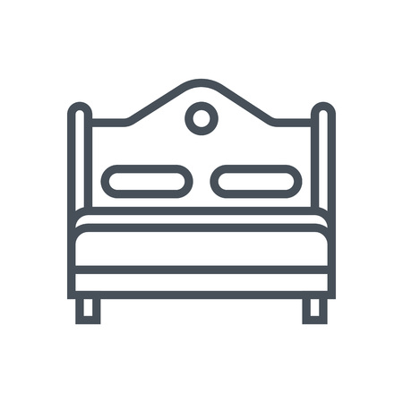 Bedroom, bed icon suitable for info graphics, websites and print media and  interfaces. Line vector icon.