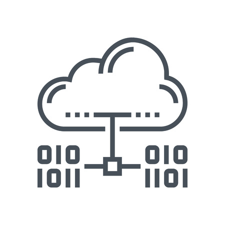domain: Cloud hosting icon suitable for info graphics, websites and print media and  interfaces. Line vector icon.
