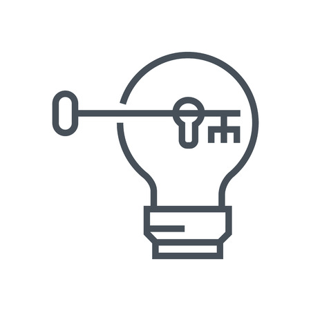 key hole: Problem solving icon suitable for info graphics, websites and print media and  interfaces. Line vector icon. Illustration