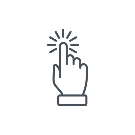 Multi touch, hand, finger, gesture icon suitable for info graphics, websites and print media and  interfaces. Line vector icon.