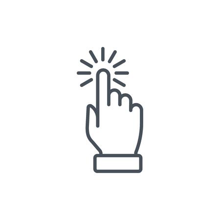 multi touch, mano, dedo, icono gesto adecuado para información de gráficos, páginas web y medios impresos e interfaces. Línea de iconos de vectores.