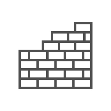 Brick wall icon suitable for info graphics, websites and print media and  interfaces. Line vector icon. Illusztráció