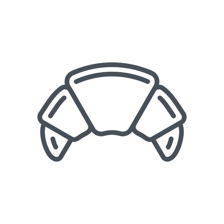 Croissant icon suitable for info graphics, websites and print media and  interfaces. Line vector icon.