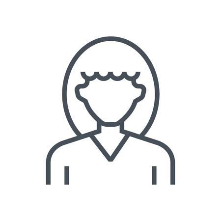 Woman avatar icon suitable for info graphics, websites and print media and  interfaces. Line vector icon. Illustration
