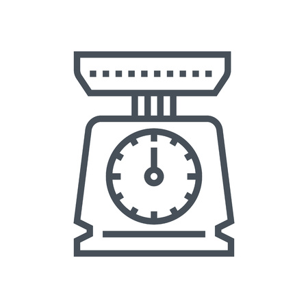 weigher: Weight, scale icon suitable for info graphics, websites and print media and  interfaces. Line vector icon. Illustration